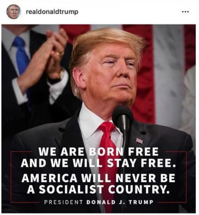 Trump poston mesazhin kundër socializmit