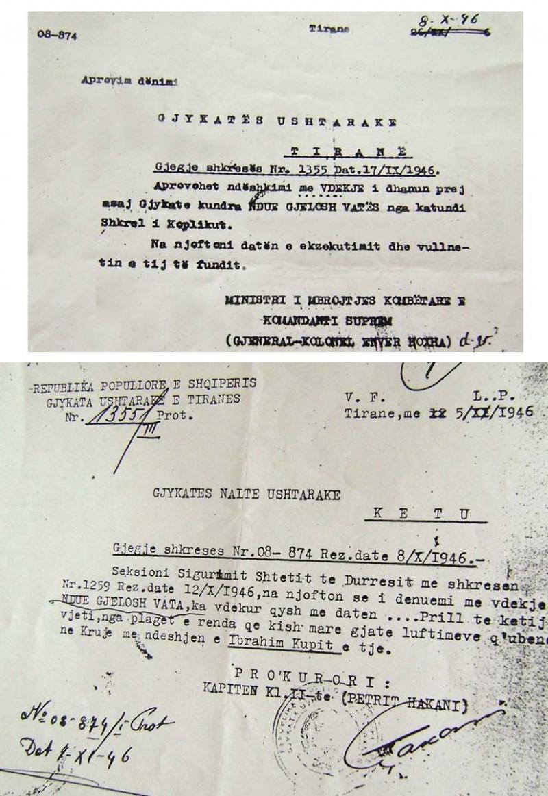 1946/Dënimi me vdekje i të vdekurit