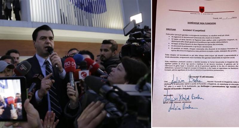 Basha e Berisha firmosin lënien e mandatit të deputetit