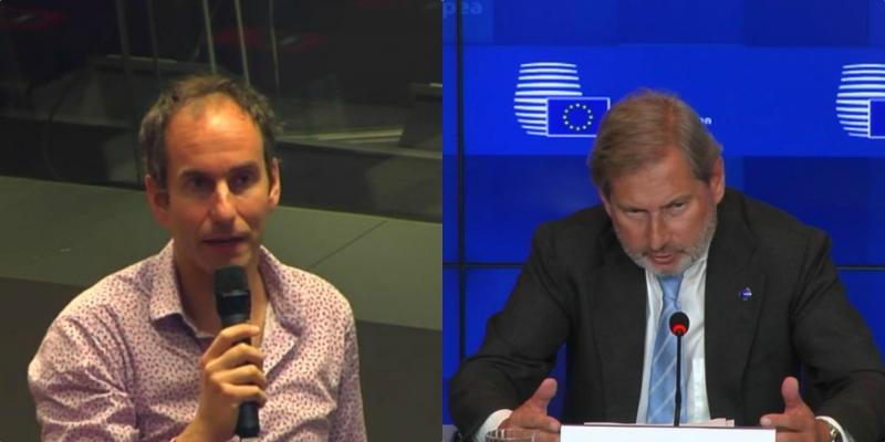 Hahn i shmanget pyetjes së gazetarit për përgjimet e 'Bild', flet për suksese imagjinare (VIDEO)