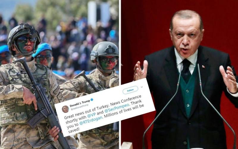 Armëpushim 120 orësh/ Trump zbyth Erdoganin