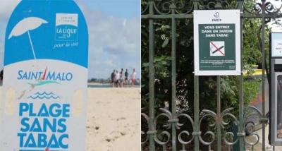 Franca ndalon duhanin në plazhe dhe parqe
