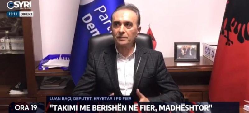 Kryesia e PD në Fier mbështet Luan Baçin: Nuk e njohim vendimin e Bashës, shkeli statutin