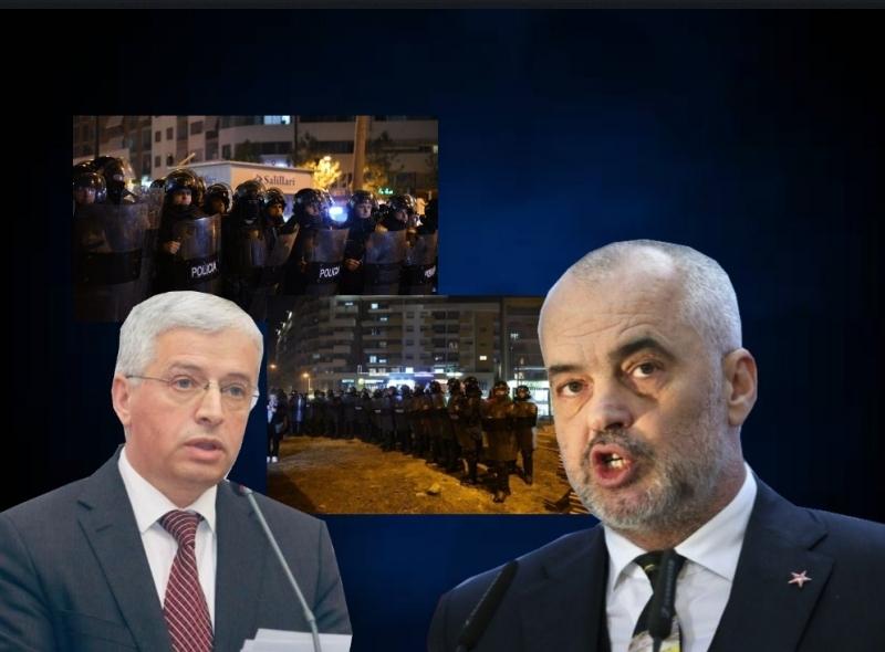Skandali Lleshaj-Rama/ Shkelen të Drejtat e Njeriut, policia letër kundër protestave te Unaza
