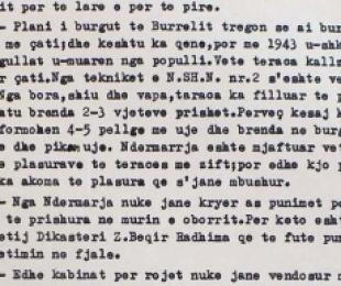 1946/Burgu i Burrelit u bë me tarracë për të rritur vapën në verë dhe ftohtin në dimër