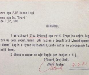 Elez Biberaj, dokumentet që Sigurimi mblidhte për të