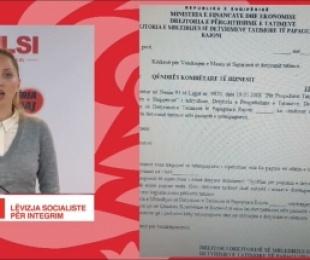 LSI kallëzim penal ndaj drejtoreshës së Tatimeve, Shehaj: Biznesi i saj veprime antiligjore në disa institucione shtetërore