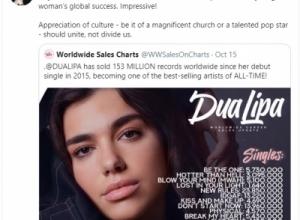 """""""Çdokush duhet të jetë krenar për suksesin e saj"""", ish-deputetja serbe vlerëson këngëtaren Dua Lipa, ja mesazhi i saj"""