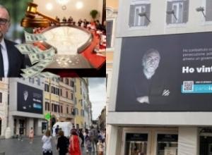 """""""Unë fitova"""", Becchetti reklamon fitoren ndaj Shqipërisë me një banderolë gjigande në mes të Romës"""