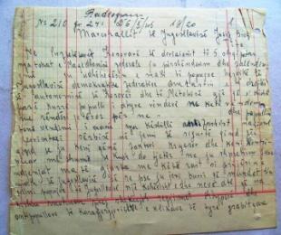 """1945/Telegrami i """"partizanëve"""" kosovarë për Titon"""